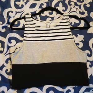 Forever 21 Stripe cropped top L